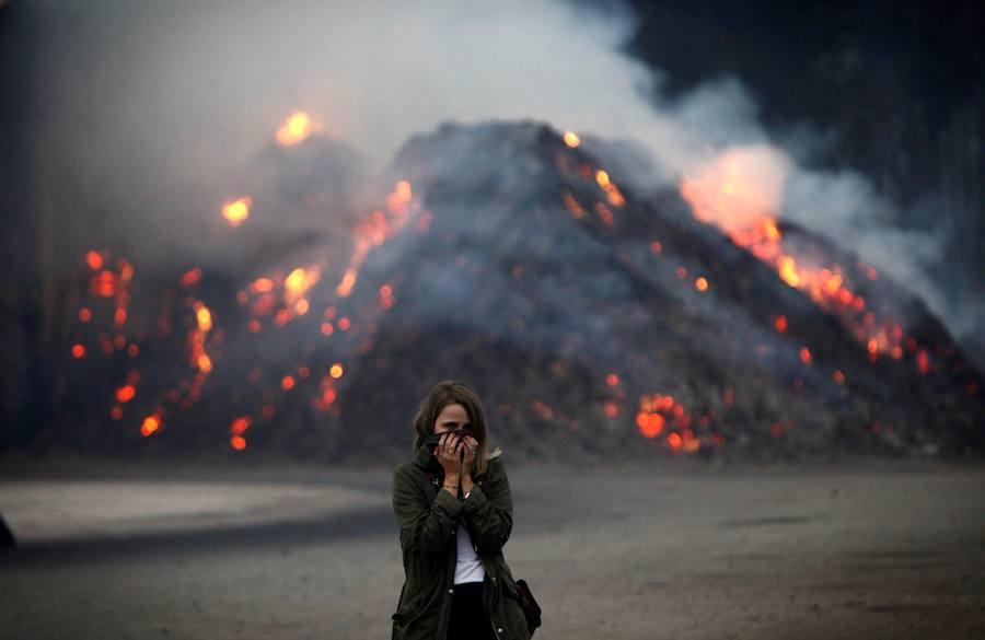 Fotos de los incendios en Galicia