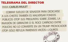 Telegrama para Carles Mulet