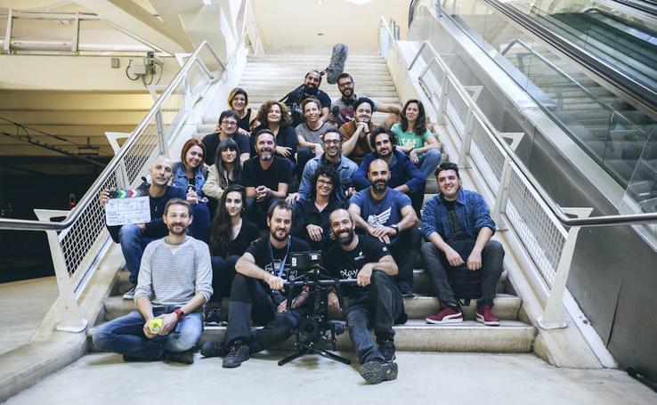 Fotos del rodaje del nuevo corto del director Abdelatif Hwidar en el metro de Valencia
