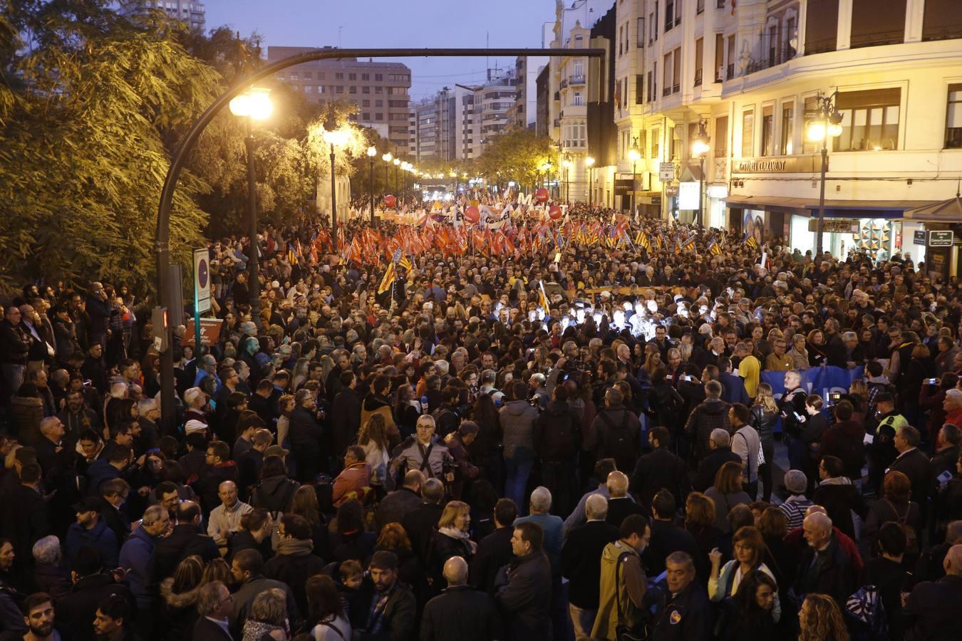 Fotos de la manifestación en Valencia por una financiación justa