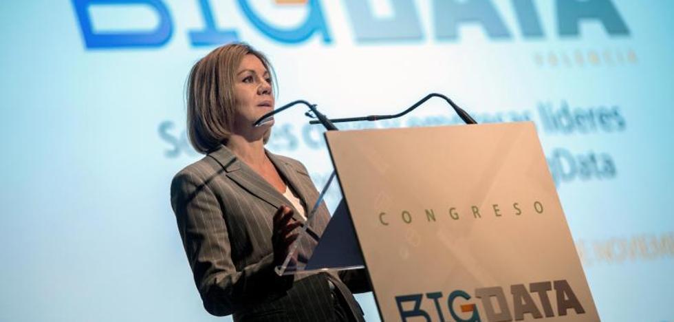 La ministra Cospedal inaugura el Congreso Big Data en Valencia: «Debemos igualar el paso de la seguridad a los cambios tecnológicos»