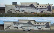 Un mural de Escif, censurado en Francia