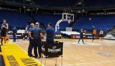 El Valencia Basket se entrena en el Menora Arena