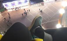 Atrapados una hora y media a 60 metros de altura en la Feria de Navidad