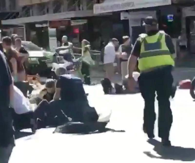 Fotos del atropello múltiple en Melbourne