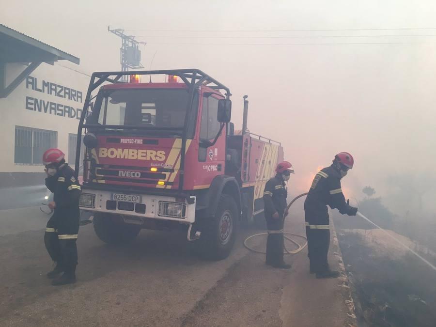 Fotos del incendio forestal en Culla