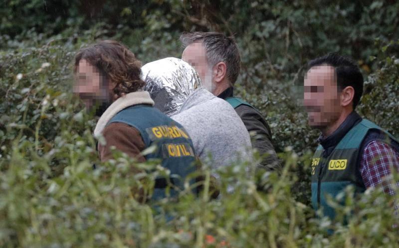 Fotos del operativo policial para hallar el cuerpo de Diana Quer