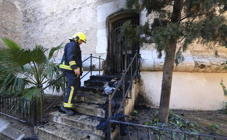 Fotos del incendio que ha afectado a las Torres de Quart de Valencia