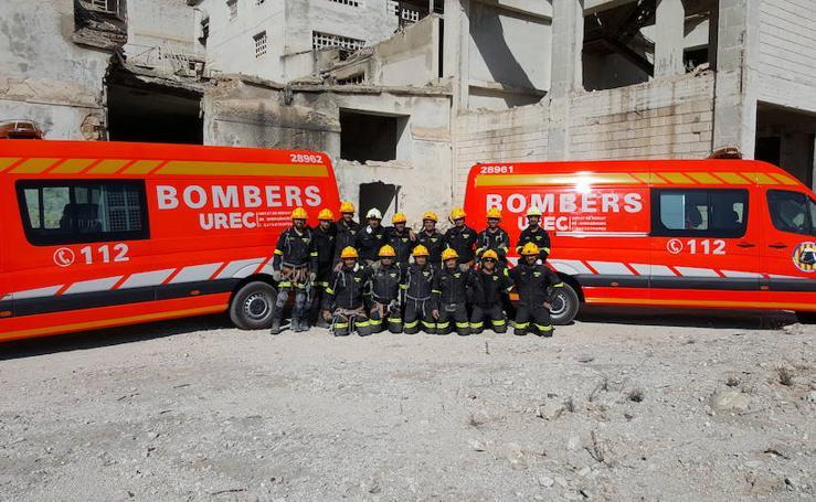 Fotos de la Unidad de Rescates en Emergencias y Catástrofes del Consorcio de Bomberos de Valencia