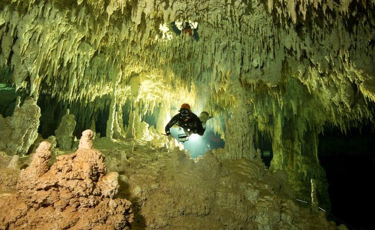 El túnel bajo el agua al más allá de los mayas