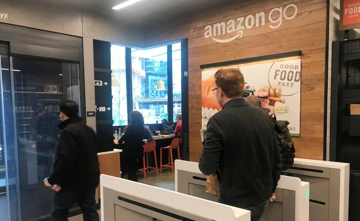 Fotos del supermercado Amazon Go