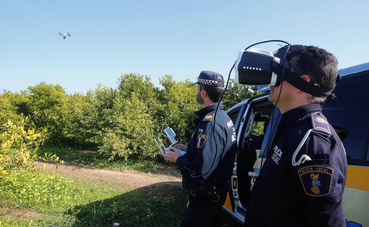 Fotos del dron de la Policía Local de Algemesí