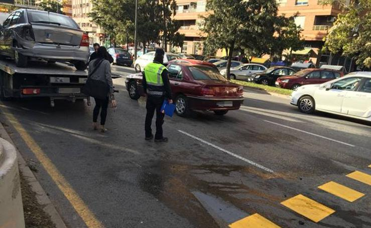 Fotos del accidente múltiple en la avenida del Cid