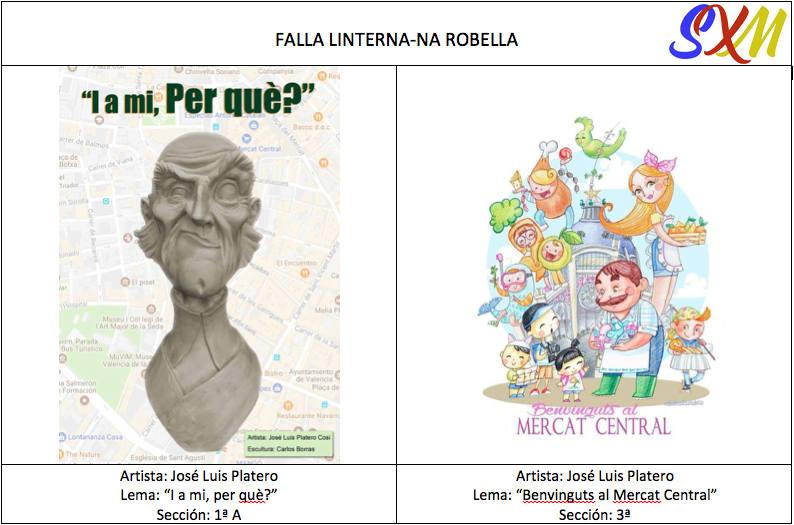 Bocetos de las fallas de La Seu - La Xerea i el Mercat