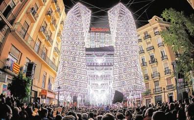 Horarios del encendido de luces de las fallas Cuba y Sueca Literato-Azorín en Ruzafa y de la Falla Malvarrosa