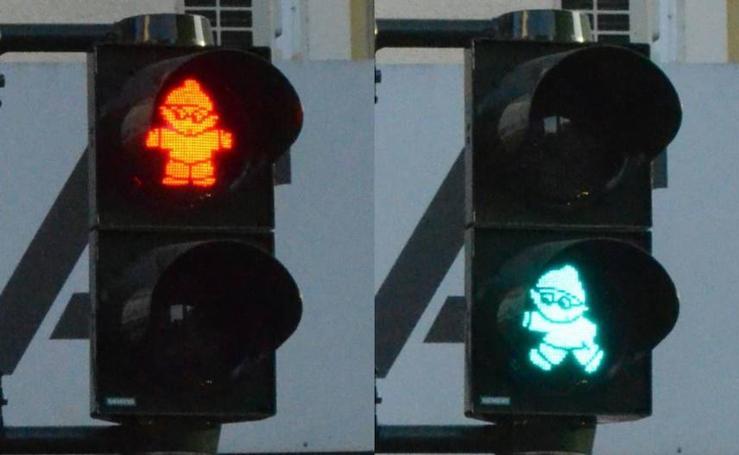 Fotos de las luces de peatones de semáforos más curiosas