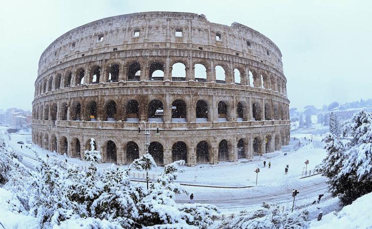 Fotos de la nevada histórica en Roma