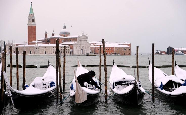 Fotos de Venecia cubierta de nieve