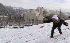 Un avión regresa a Valencia tras no poder aterrizar en Bilbao por la nieve