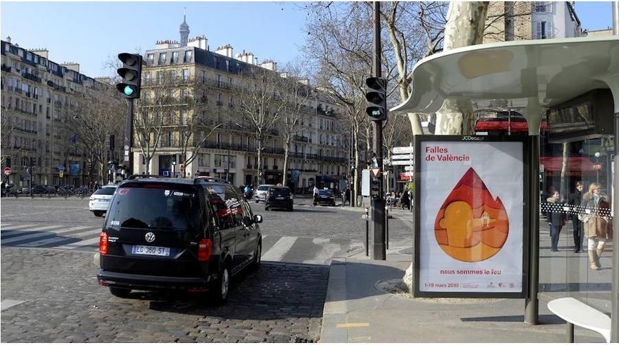 Fotos de los carteles de las Fallas 2018 en París