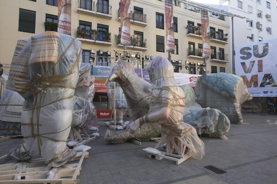 Plantà de la Falla Plaza del Pilar en estas Fallas 2018