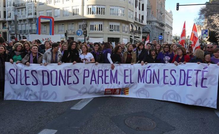 Fotos del Día de la Mujer en Valencia
