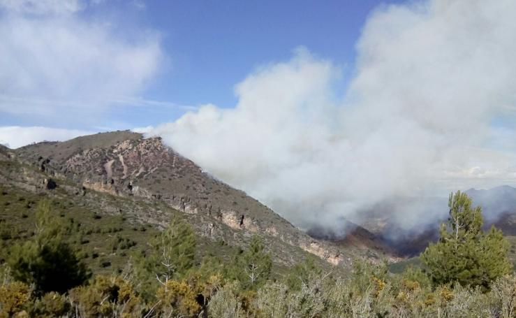 Fotos del incendio en Montán (Castellón)