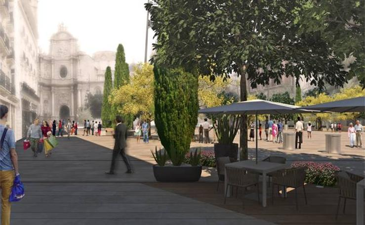 Así será la plaza de la Reina de Valencia tras su remodelación