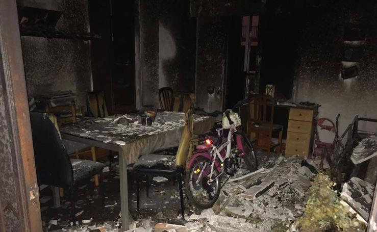 Incendio en una vivienda en la calle Zapadores de Valencia