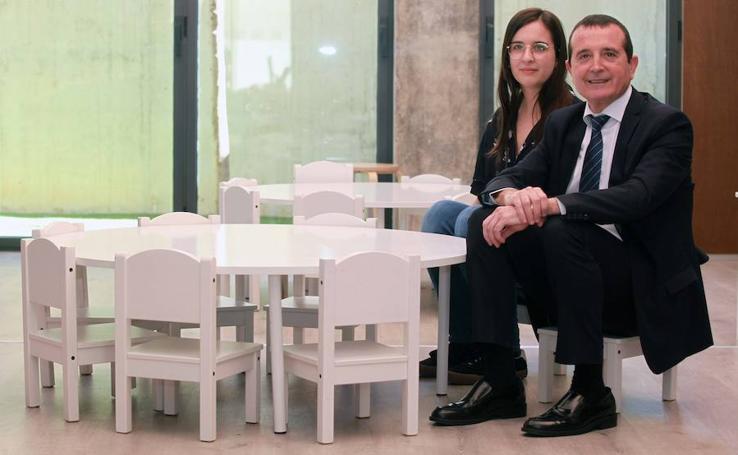 Manuel Palma y su hija, Sara Palma