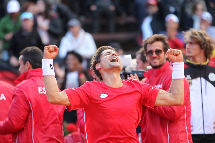 Fotos de David Ferrer en la Copa Davis