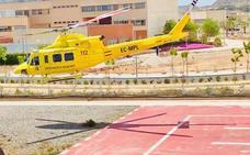 Rescatan en helicóptero a una mujer herida en el Penyal d'Ifac