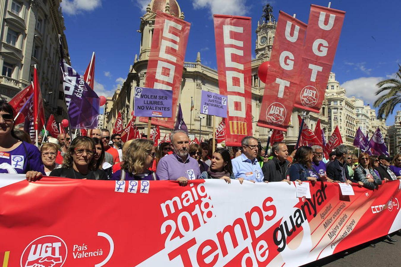 Manifestación del 1 de mayo de 2018 en Valencia