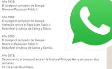 Dos títulos del Liverpool desmontan la teoría de muertes de Papas viral por WhatsApp