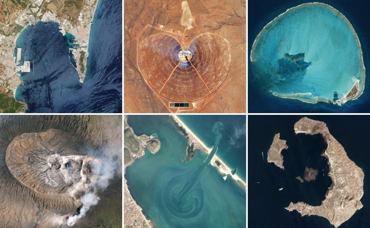 Rincones del planeta de extraordinaria belleza, capturados desde el espacio