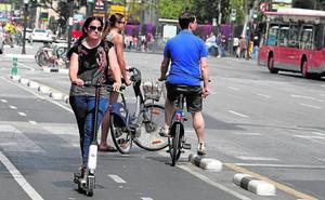 El boom de los patinetes avanza en Valencia entre el vacío legal