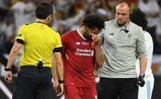 Salah en Valencia: la estrella del Liverpool se trata con el fisioterapeuta Rubén Pons