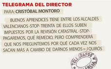 Telegrama para Cristóbal Montoro