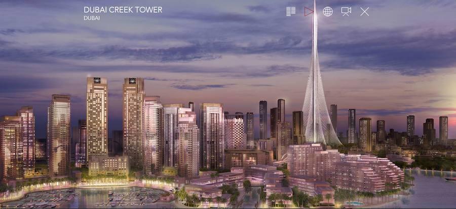 Fotos de la Dubai Creek Tower de Santiago Calatrava