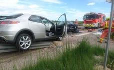 Una persona atrapada tras un accidente en Algemesí