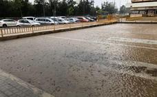 Fuertes trombas de agua en Valencia y granizadas en el área metropolitana