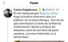 Puigdemont dice que À Punt fortalece territorios de habla catalana
