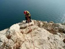 Los bomberos rescatan a dos montañeros madrileños en el Penyal d'Ifach