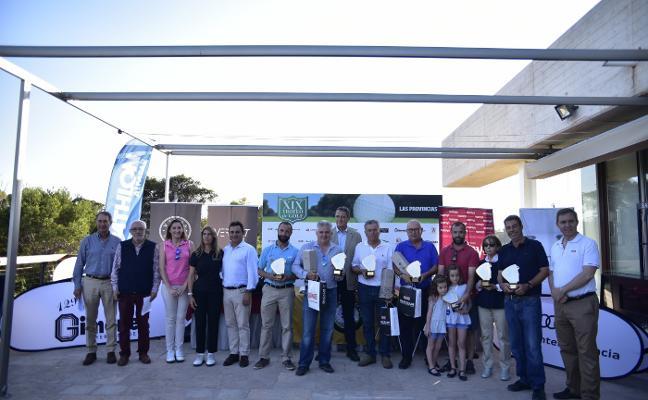 El campo de El Saler corona a los ganadores del XIX Torneo de Golf de LAS PROVINCIAS