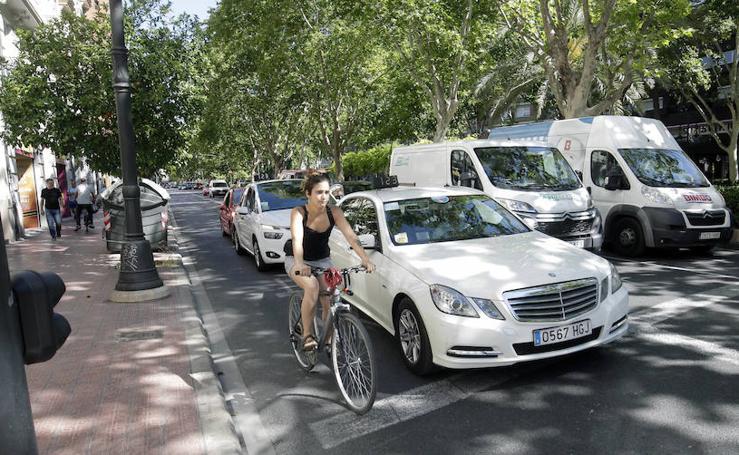 Carril bici Gran Vía Valencia