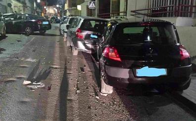 Un conductor ebrio y drogado arrolla con su coche otros 12 vehículos en Burjassot
