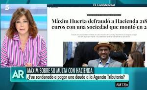 Ana Rosa habla sobre la infracción de Màxim Huerta
