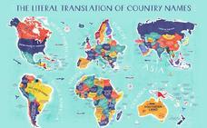 ¿Qué significan los nombres de cada país del mundo? Descúbrelo en este mapa