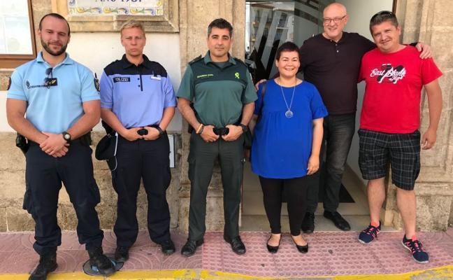 Policía francesa y alemana refuerzan la seguridad en Xàbia y Benitatxell