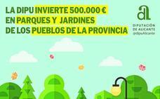 La Diputación de Alicante invertirá 500.000 euros en zonas verdes